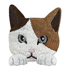 東洋ケース シール 猫刺繍 SS-CAT-03 みけねこ