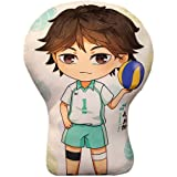 Haikyuu Plush Pillow, Nekoma/ Karasuno High School Stuffed Plush Doll, Double-Sided Printing Miya Atsumu Shoyo Hinata Tobio K