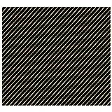ベルべ 包装紙 イタリアンストライプ ブラック 半切 100枚入 874