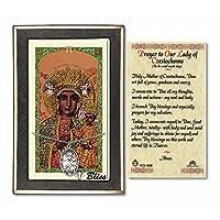 ピューターOur Lady of Czestochowaの24インチ縁石チェーンwith a prayer to St Anthony Prayerカード