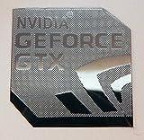 NVIDIA GEFORCE GTX Polished Metal Sticker 18mm x 18mm [840] [並行輸入品]