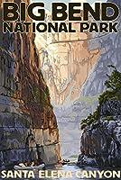 Big Bend国立公園、テキサス–Santa Elena Canyon 12 x 18 Art Print LANT-34167-12x18
