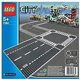 レゴ シティ ロードプレート 直線+交差点(2枚入り) 7280