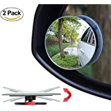 Blind Spot Mirror, 360°Rotatable Wide Angle Ultra HD Convex Rear View Mirror for Car, SUV, Truck - 2 Pack