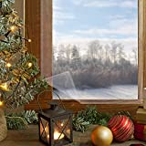 窓ガラス透明断熱フィルム 二重窓になり 断熱シート 残りなし両面テープ付き 暖房効率アップ 冷気ストップ 超透明 結露防止 隙間風・冷気対策 省エネ すべて窓枠適用(158 x 535cm)