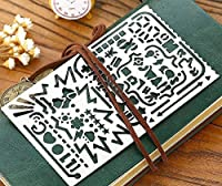 Multifunctional Portable Drawing Template,JoyTong Stainless Steel Stencil with 60 Apertures Size 12cm 7.4cm