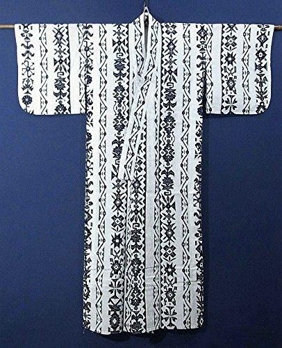 リサイクル 浴衣  縦縞の装飾模様 裄60.5cm 身丈142cm