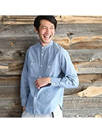 コーエン(メンズ)(coen) シャンブレーバンドカラーシャツ