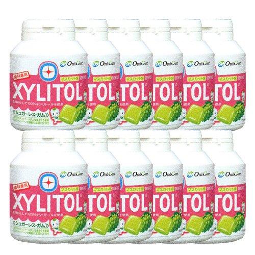 歯科専売品 キシリトール ガム ボトル タイプ 90粒×12本 マスカット キシリトール 100%