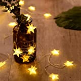 ANJAYLIA 40 LED Star String Lights 20 FT Fairy Christmas Lights Battery Operated for Indoor & Outdoor, Party, Wedding and Hol