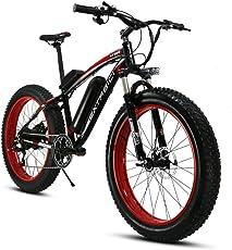 Extrbici XF660 スノーバイク FATBIKE ファットバイク 自転車 リチウム×バッテリー 26インチホイール シマノ7段変速 雪道タイヤ26X4.0 電機500w 雪道 悪路 泥よけ付き 防犯登録可能