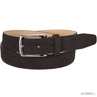 Arnold Wills Italian Suede Belt AWG15-3021: Dark Brown