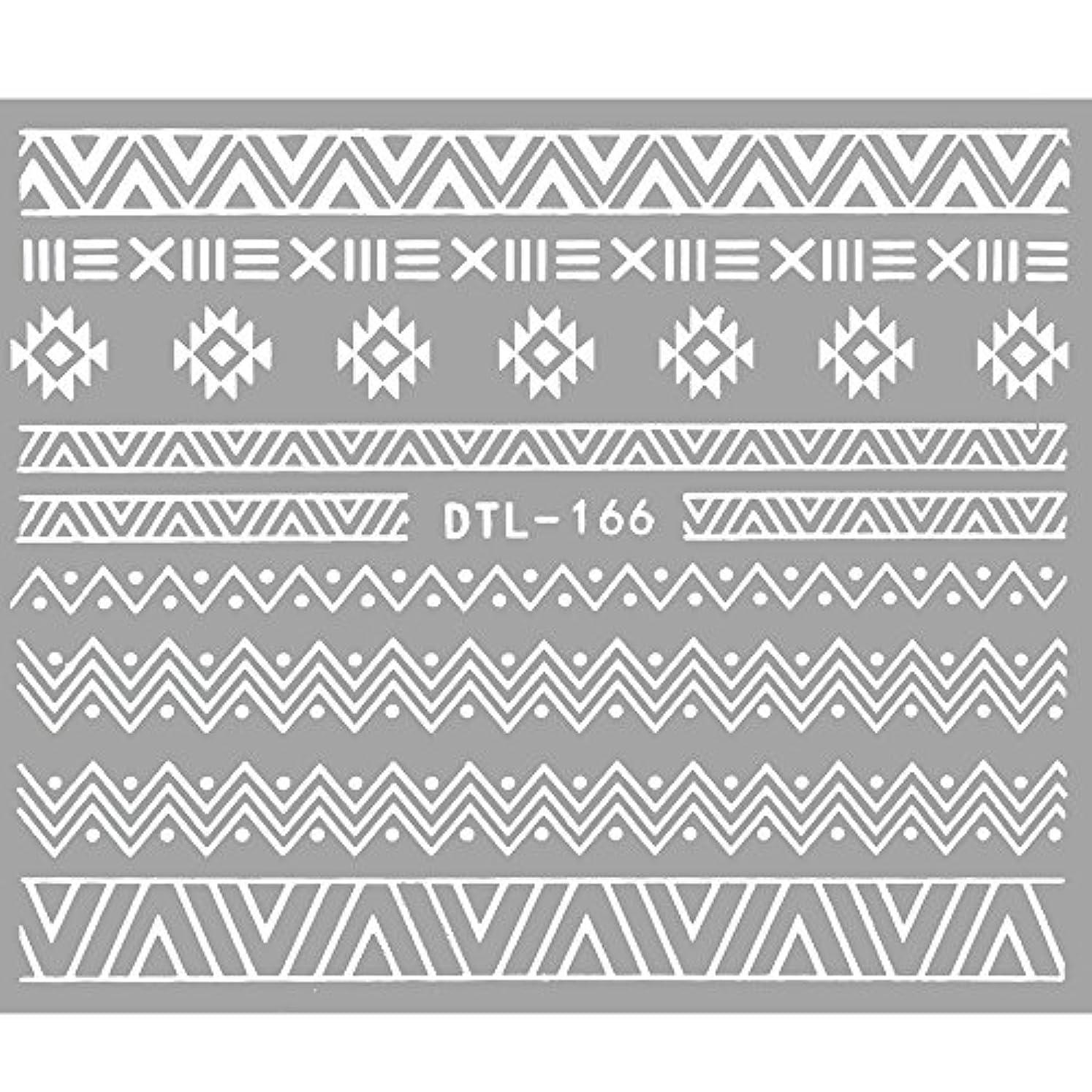 パプアニューギニア季節あらゆる種類の【ホワイト DTL-166】ネイティブエスニックラインシール