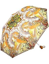 レディース 傘 おしゃれな 名画シリーズ 49cm 折りたたみ傘 ミュシャ 妖精