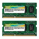 シリコンパワー ノートPC用メモリ 1.35V (低電圧) - 1.5V 両対応204Pin DDR3L 1600 PC3L-12800 4GB×2枚 永久保証 SP008GLSTU160N22