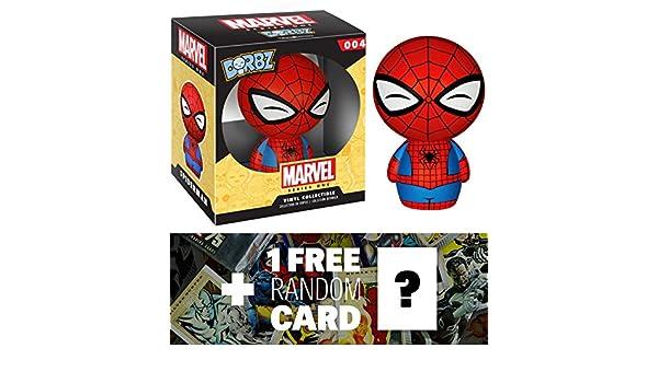 1 FREE Official Marvel Trading Card Bundle Funko Dorbz x Marvel Universe Mini Vinyl Figure 59569 Spider-Man