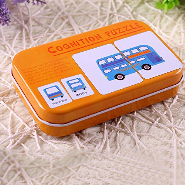 Qiyunパズルおもちゃ32個/ボックスInfant初期学習認識機能カードクリエイティブジグソーパズルおもちゃfor赤ちゃんクリスマスギフト