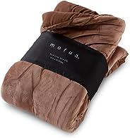 モフア ( mofua ) うっとりなめらかパフ ふわ 毛布  セミダブル ブラウン 57920206