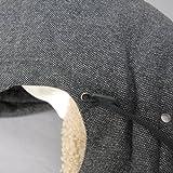 ボアネック ツイードダウンジャケット G9Q61T FMMBU S8030 グレー ドルチェ&ガッバーナ画像③