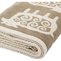 [ クリッパン ] KLIPPAN シュニール ブランケット 2509-02 ブラックシープ/ベージュ 140×180cm Chenille Blankets ひざ掛け 毛布 オフィス ふわふわ [並行輸入品]