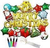 ( Radiant Party ) クリスマス 飾り付け バルーン セット 大容量 28ピース ポンプ付き