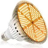 SINJIAlight 植物育成ライトLED 120w相当 暖色系 太陽のような光 フルスペクトル 180個LEDチップ E26口金 水耕栽培用ライト 室内栽培 家庭菜園 (1)