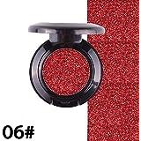 アイシャドー YOKINO アイシャドウ 単色 金属質感 防水 簡単に色付け にじまない ナチュラル アイメイク (6#)