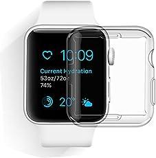 [LivelyLife]Apple Watch Series 4 ケース フィルム 全面保護カバー 44mm 一体化設計 フルカバー 高品質 TPU製 超薄 耐衝撃 装着簡単(クリア)
