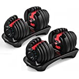 Adjustable Dumbbell Weights - 48KG (1 Pair)