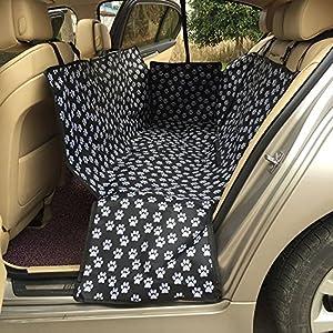 JTENG ペット用ドライブシート( 新型 ) シートカバー 車用ペットシート 後部座席用 高品質 防水 滑り止め 折り畳み式 ジッパー付 汚れに強い 清潔簡単 大中小型犬用 ペットおでかけ用品
