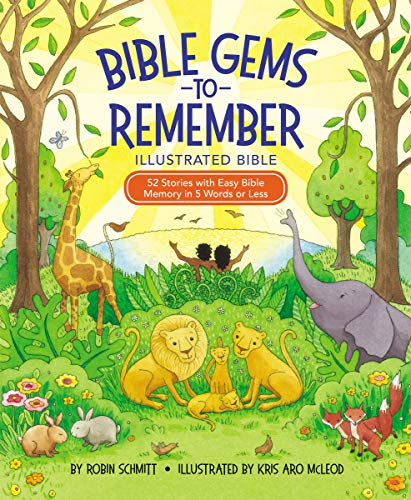 Bible Gems to Remember Illustrated Bible: 52 Stories with Easy Bible Memory in 5 Words or Less (English Edition)