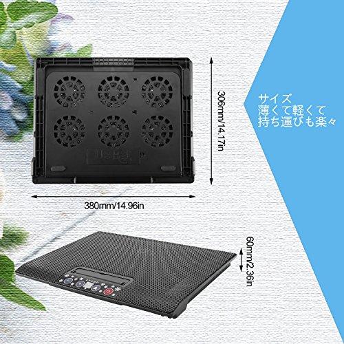 LESHP ノートパソコン 冷却パッド 冷却台 超静音 USBポート2口 ノートPCクーラー 冷却ファン 猛暑対策に!大事なノートパソコンを守る