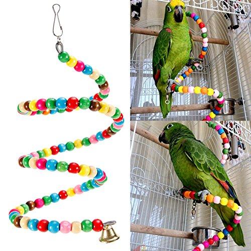 [해외]다채로운 & 귀여운 조류 용 장난감 바도토이 스윙 사다리 旋? 사다리 방울있는 스트레스 해소 100cm | 150cm/Colorful & cute bird`s toy Bird toy swing ladder turning ladder with bell Stress relief 100 cm | 150 cm