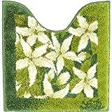 GRUND トイレマット 北欧 50 × 50 cm 洗える シャギーラグ トイレタリー ジャスミン jasmin 花柄 グリーン ホワイト 緑 北欧直輸入