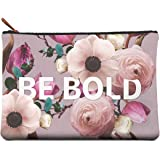 Studio Oh! Large Zippered Pouch Available in 8 Designs, Floral Typography BE Bold