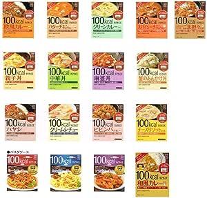 大塚食品 100キロカロリー マイサイズ カレー、ハヤシ、シチュー、まぜごはんの素、どんぶりの素の13種+パスタソース4種セット