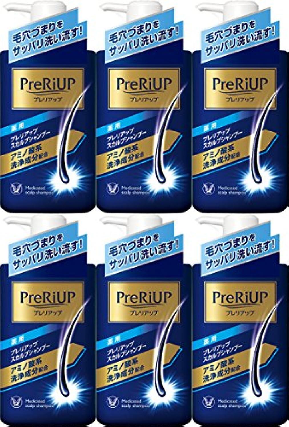 新聞魚コーナー【6個セット】薬用プレリアップ スカルプシャンプー 400ml