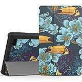 Fire 7 2015 ケース - ATiC Amazon Fire 7 2015(第五世代)タブレット専用開閉式三つ折薄型スタンドケース。オオハシ鳥