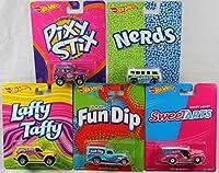 Hot Wheels Pop Culture Candy Cars Bundle of 5 Vehicles [並行輸入品]