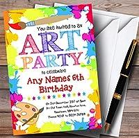 Craftsアートペイントパーティー子供誕生日パーティー招待状 20 Invitations