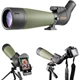 Gosky 20-60 X 80 Porro Prism Spotting Scope- Waterproof Scope for Bird Watching Target Shooting Archery Range Outdoor Activit