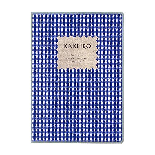 ダイゴー ギンガムチェック家計簿 A5 ブルー J1236