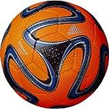 adidas(アディダス) サッカーボール ブラズーカ クラブプロ AF4812ORB オレンジXブルーXブラック 4号