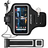 Pixel 4XL, 3a XL, 3 XL, 2 XL Armband, JEMACHE Water Resistant Running Workouts/Exercises Sport Arm Band Case for Google Pixel