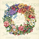 "DIM クロスステッチキット Wreath Of All Seasons 【並行輸入品】 Dimensions Needlecrafts Counted Cross Stitch Wreath Of All Seasons ディメンションズ クロスステッチ 刺繍キット""フラワーリース"""