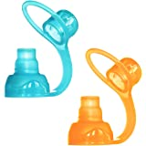 ChooMee Sip'n Soft Top - Orange and Aqua - 2 Count