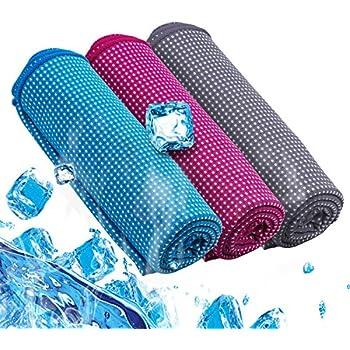 冷却タオル 超冷感 クールタオル 瞬冷 スポーツアイスタオル 速乾 超吸水 軽量 ひんやり UVカットタオル 暑さ対策 熱中症対策 運動会 ヨガ ジム アウトドア 夏フェス 炎天下作業など 3色選択可能 (グレー)