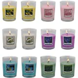 SCEN Votive Candles 1#,lilac Flower,lotus Flower,ginger Flower,jasmine,peony&cherry Blossoms and Green Tea