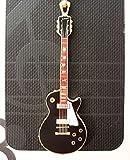 ギブソン レスポール ギター 携帯ストラップ (黒)
