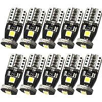 TORIBIO 10個 T10 セット LEDバルブ W5W 194 車内用駐車ライトライトドームライトライセンスプレートライト 6000K ホワイト12V デコード Canbus